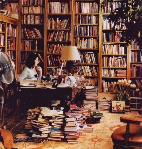 Nigella Lawson in her Library